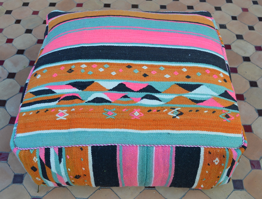 colorful floor pillow Morocco