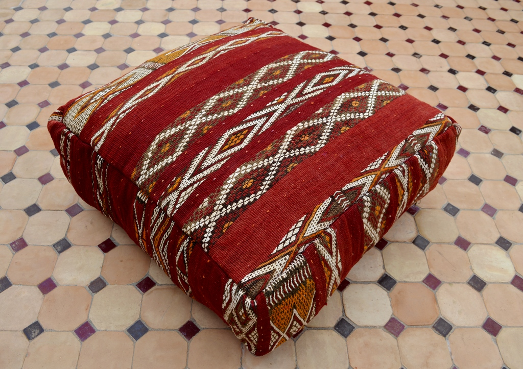 Red floor pillow