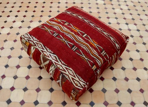 floor red pillow Moroccan