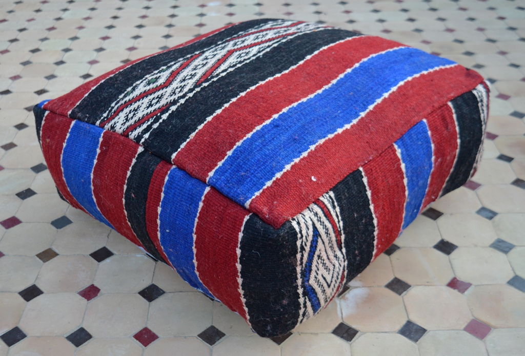 killim floor pillow Moroccan