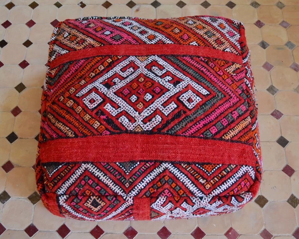 floor pillow red
