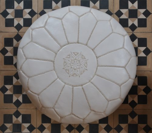 moroccan leather pouffe