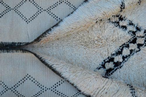 beni ouarain carpet in white