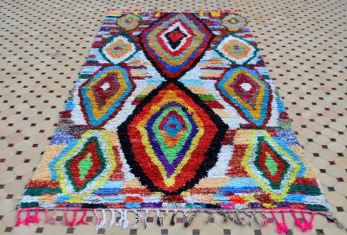colorful boucherouite rugs