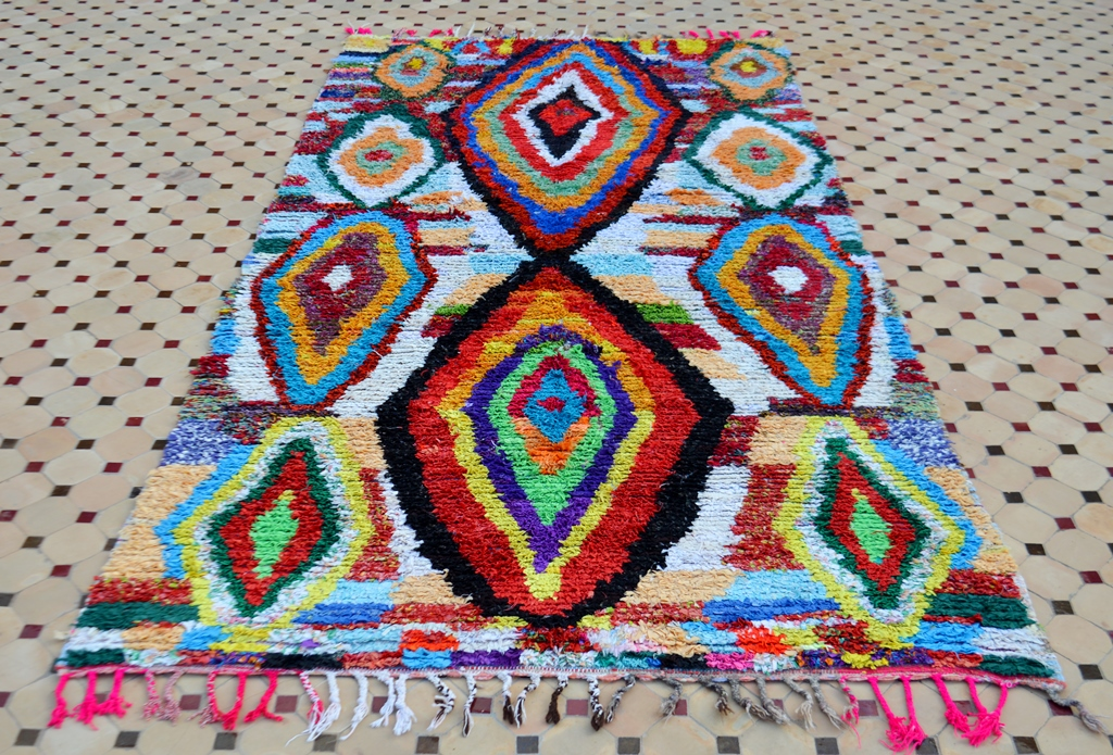 colorful boucherouite rugs