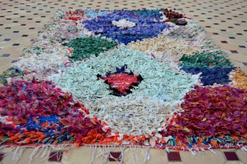 Boucherouite woolen carpet