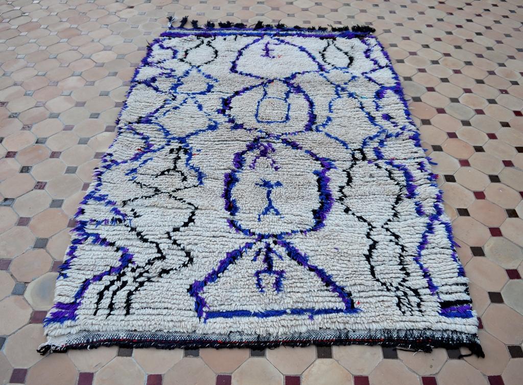vintage Azilal carpet purple