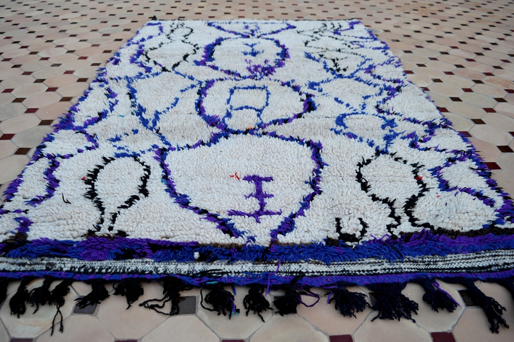 Blue color in Azilal carpets
