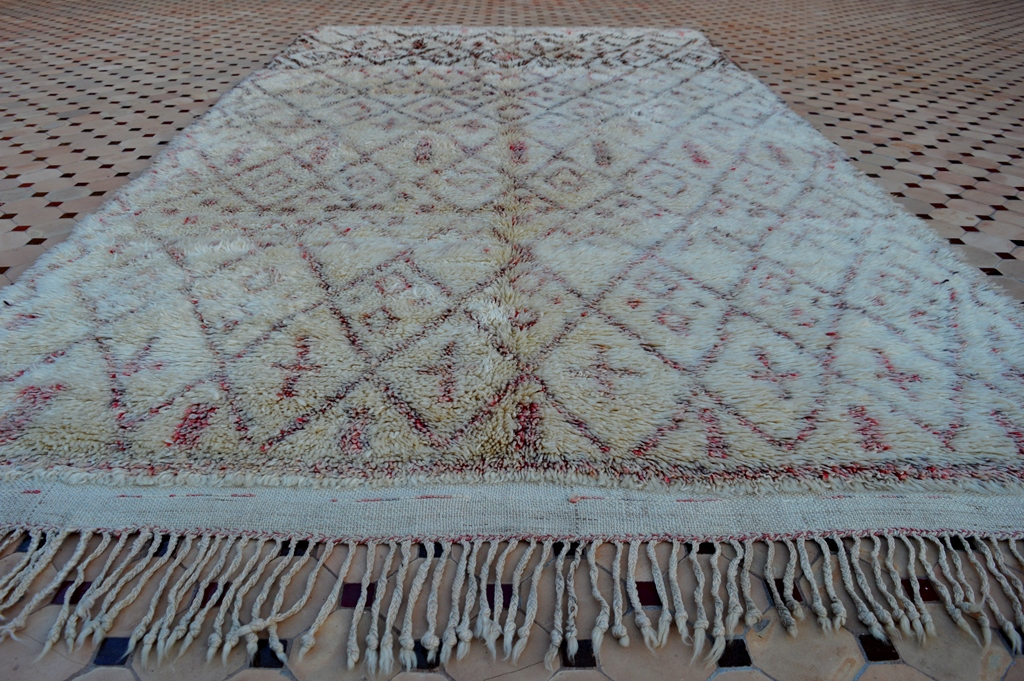 Older vintage Beni Ouarain carpet