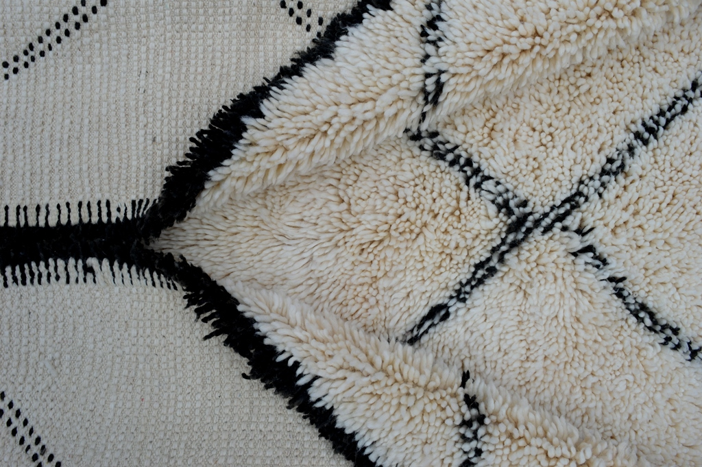 Beni Ouarain carpet with soft wool quality