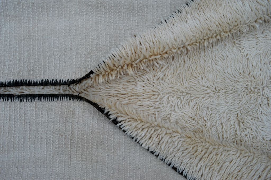 beni ouarain carpet natural wool